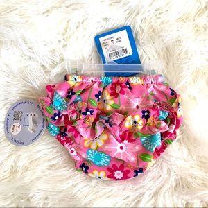 iplay Ultimate floral swim diaper ruffle baby girl